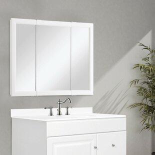 Searle Surface Mount Framed 3 Door Medicine Cabinet with 2 Shelves by Winston Porter