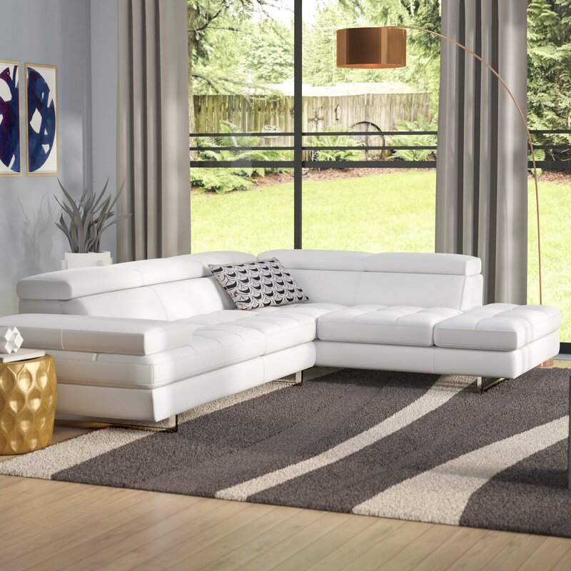 Hugo Leather Reclining Sectional : sectional with recliner and chaise - Sectionals, Sofas & Couches