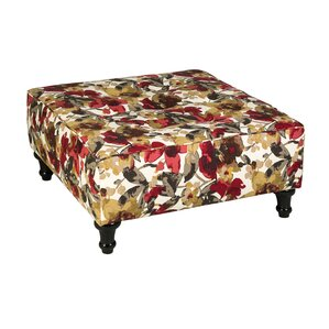 Arlington Floral Square Ottoman by Darby Home Co