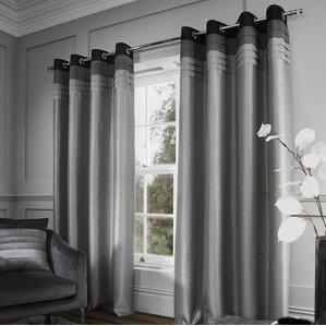 Chicago Eyelet Curtains (Set Of 2)