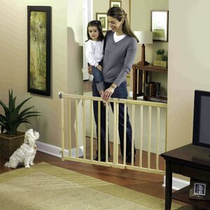 GuardMaster III Wood Slat Walk-Thru Pet Gate