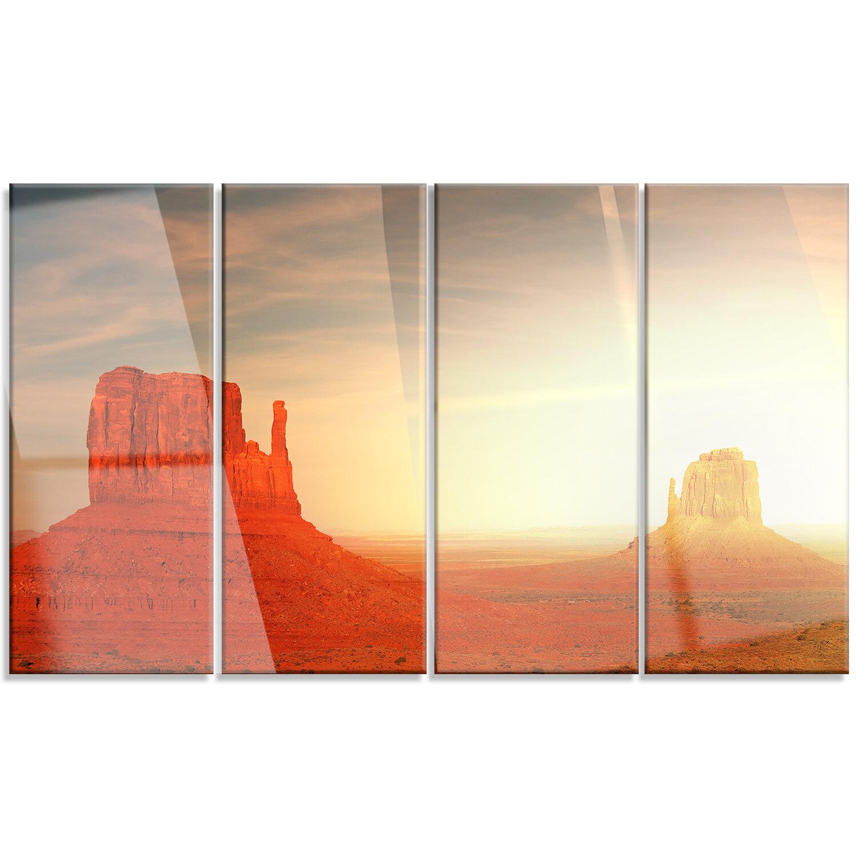 Designart Monument Valley Utah Usa 4 Piece Photographic Print On Metal Set Wayfair