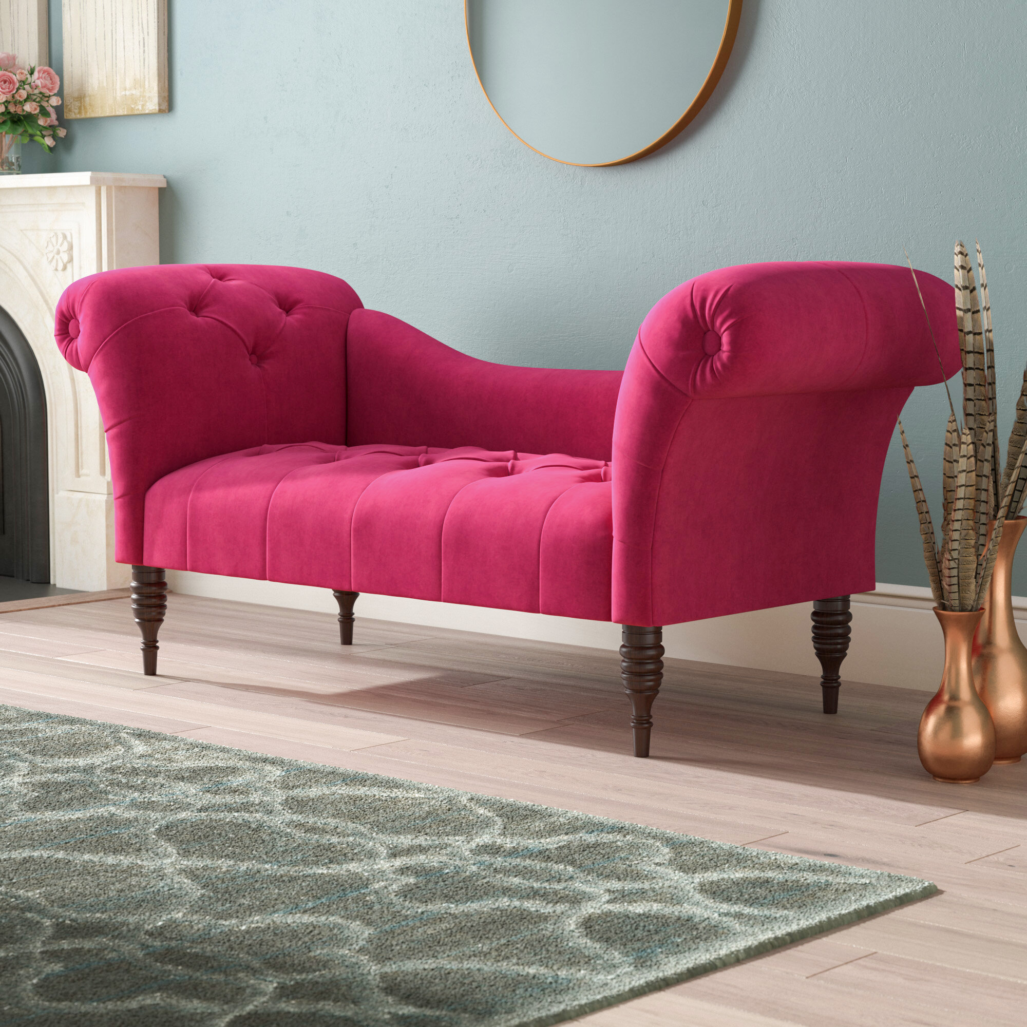 tufted lounge formidable red off chaise with sofas
