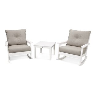 Vineyard Deep Seating 3 Piece Conversation Set With Cushions by POLYWOOD® Wonderful