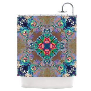 Flowery Single Shower Curtain by East Urban Home