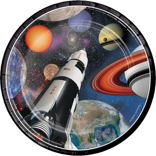 Space Blast Paper Plate (Set of 24)
