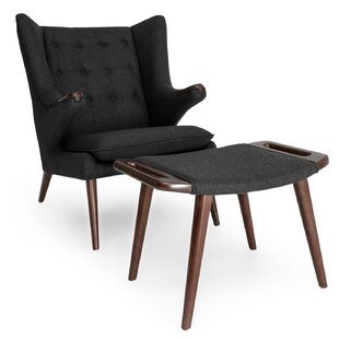 Bear Wing back Chair and Ottoman by Kardiel