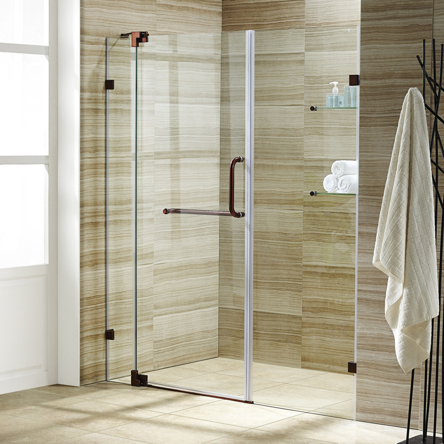 Pirouette 28 75 X 72 Pivot Frameless Shower Door