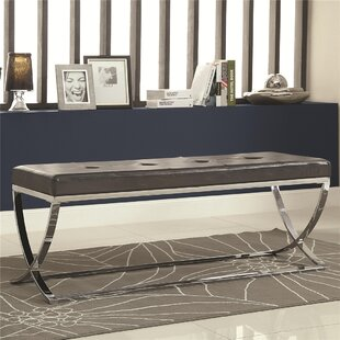 Kamp Leather Entryway Bench by Orren Ellis