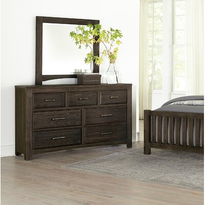 Hernandez 7 Drawer Dresser with Mirror Color: Coffee by Alcott Hill