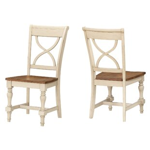 Thrower X Back Solid Wood Dining Chair (Set Of 2) by August Grove Sale