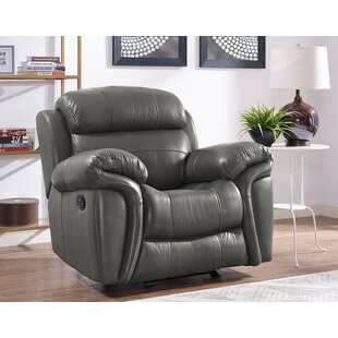 Best Deals Hatzieleftheriadis Leather Manual Glider Recliner by Red Barrel Studio Reviews (2019) & Buyer's Guide