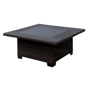 Lovettsville Aluminum & Wicker Coffee Table