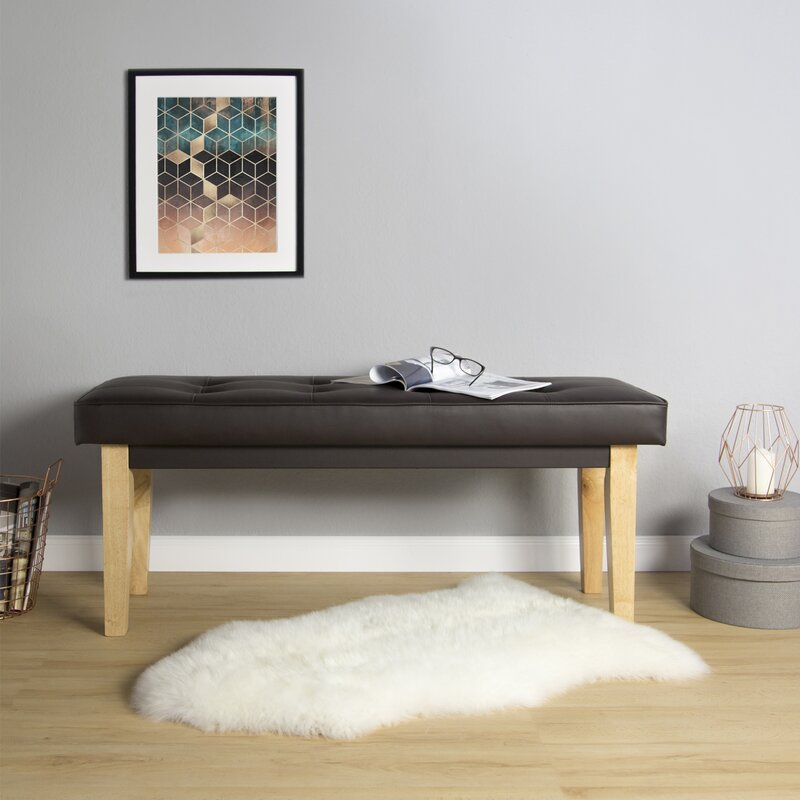 norden home gepolsterte sitzbank goldberger aus holz und kunstleder bewertungen. Black Bedroom Furniture Sets. Home Design Ideas