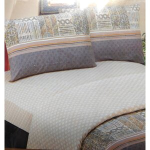 Checkered 200 Thread Count Cotton Fitted Sheet Set