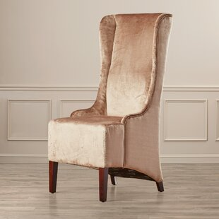 Arthurs Faux-Silk Velvet Wing Chair by Willa Arlo Interiors