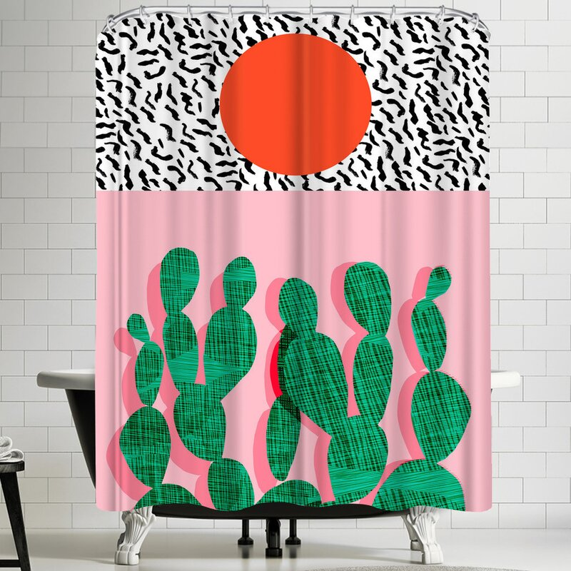 East Urban Home Wacka Designs Spazz Single Shower Curtain Wayfair