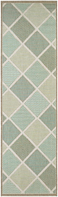 Beachcrest Home Seidenberg Green Indoor/Outdoor Area Rug & Reviews ...