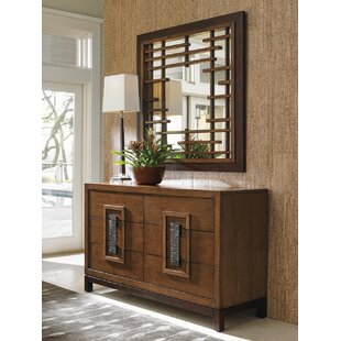 Island Fusion 6 Drawer Double Dresser with Mirror