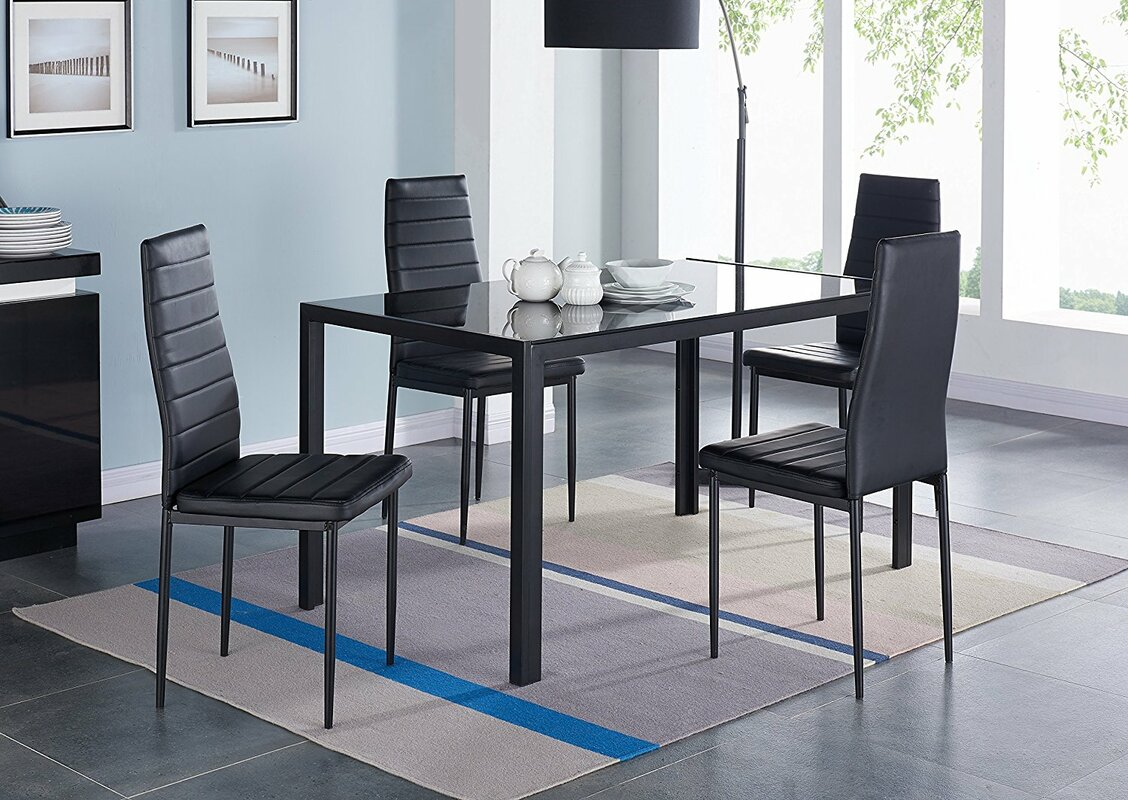 Marvelous Compact 5 Piece Dining Set