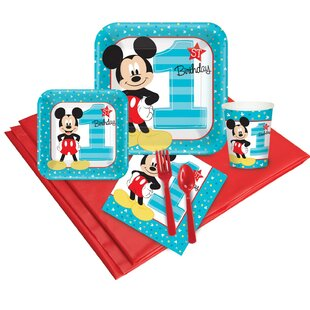 Disney Mickey Mouse 1st Birthday Disposable Party Pack
