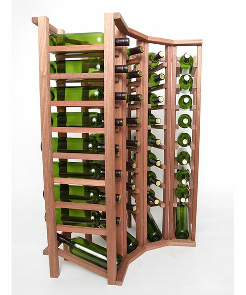 Rebrilliant Lurmont Series 40 Bottle Floor Wine Bottle Rack Wayfair