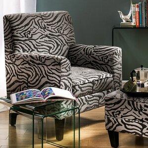 fakenham textured animal print arm chair