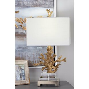 Polystone 26 Coral Table Lamp (Set of 2)