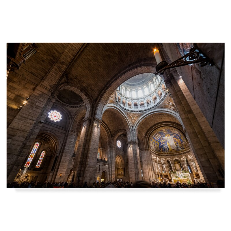 Trademark Art Sacre Coeur 2 Photographic Print On Wrapped Canvas Wayfair