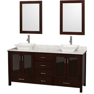 Price comparison Lucy 72 Double Espresso Bathroom Vanity Set with Mirror ByWyndham Collection
