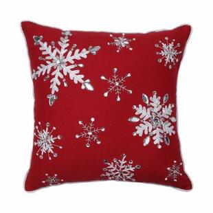 Simon Jeweled Christmas Cotton Throw Pillow