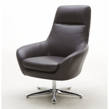 Navis Leather Lounge Chair by Hokku Designs