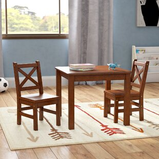 Price comparison Beaudry Kids 3 Piece Square Table and Chairs Set By Harriet Bee