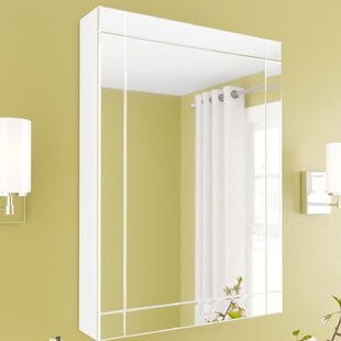 Brittingham 22.25 x 30.25 Surface Mount Framed Medicine Cabinet with 3 Adjustable Shelves By Wade Logan