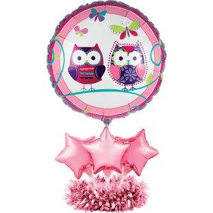 Owl Pal Birthday Balloon Paper Disposable Centerpiece Kit