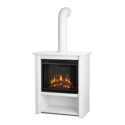 Hollis Gel Fuel Fireplace Real Flame Finish: White