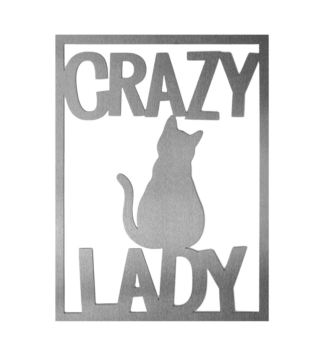 Winston Porter Crazy Lady Cat Wall