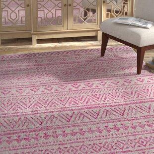Tomas Global Bright Pink/Light Pink Indoor/Outdoor Area Rug ByMistana