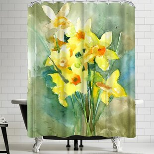 Suren Nersisyan Daffodil Single Shower Curtain
