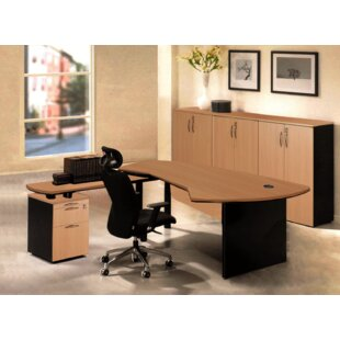 Executive Management 5 Piece L-Shaped Desk Office Suite by OfisELITE Savings