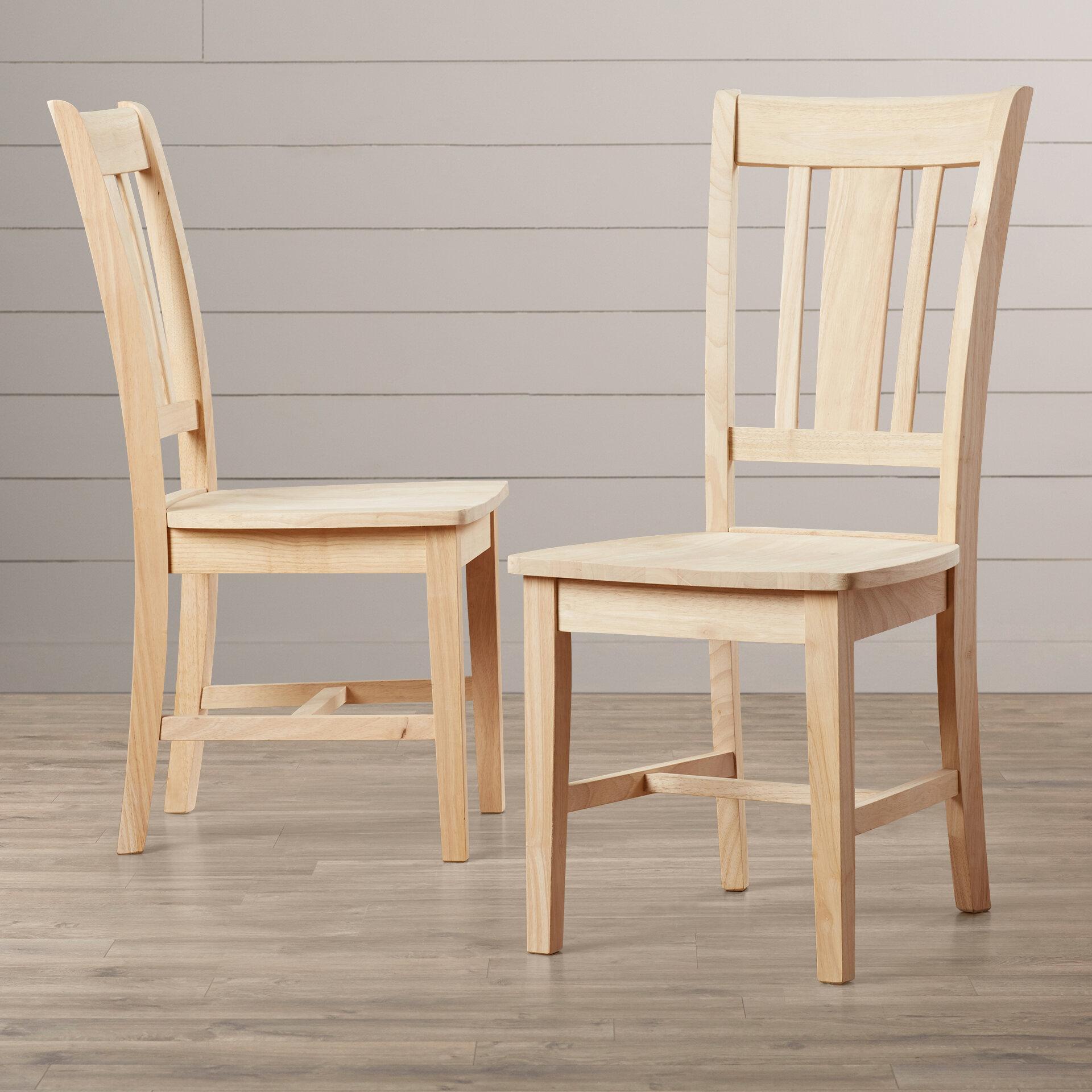 August Grove Malcolm Solid Wood Slat Back Side Chair Reviews Wayfair