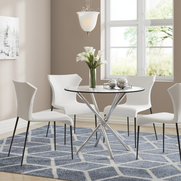 Frosted Glass Dining Table Wayfair Co Uk
