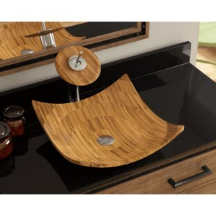 Find for Bamboo Square Vessel Bathroom Sink By Polaris Sinks