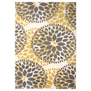 Beaudette Fl Yellow Gray Area Rug