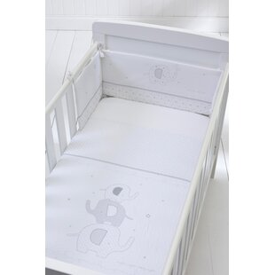 Night Elephant 3 Piece Cot Bedding Set