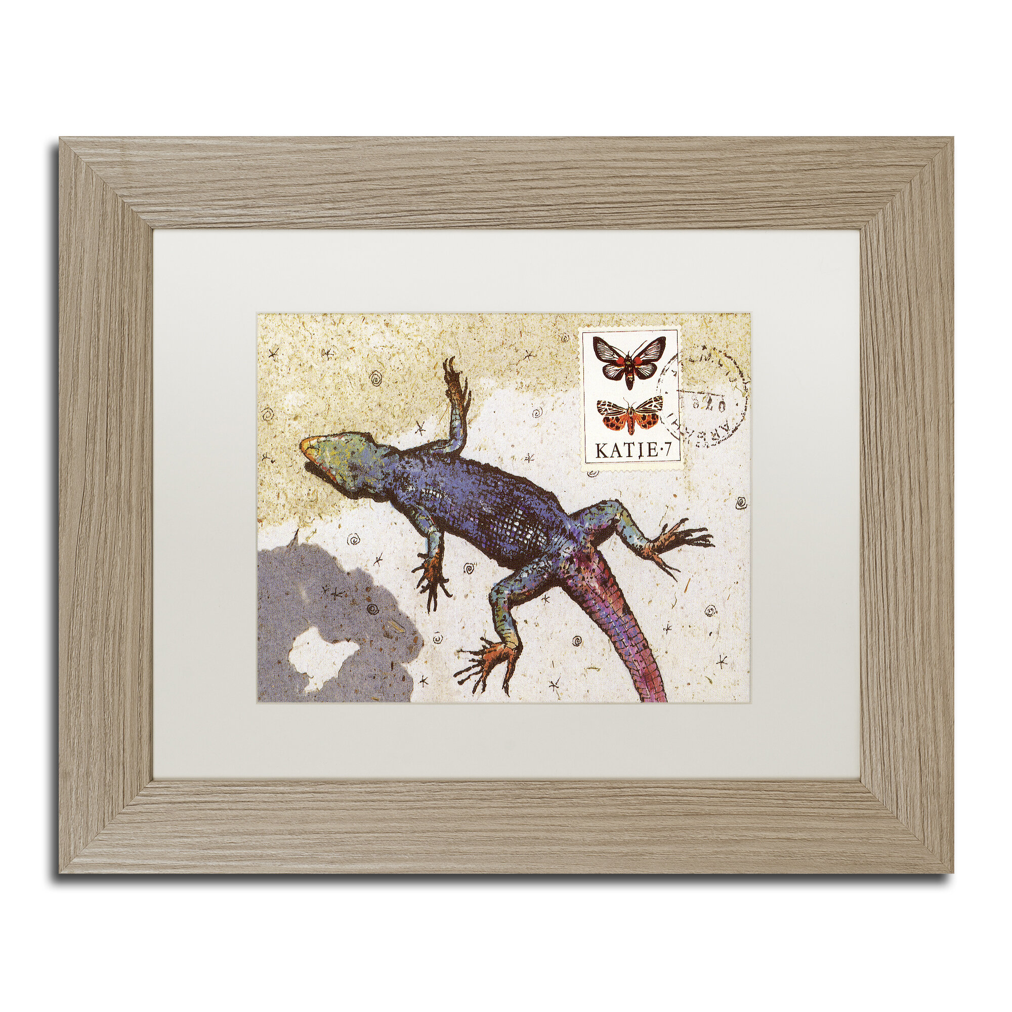 Trademark Art Rainbow Lizard By Nick Bantock Picture Frame Graphic Art Print On Canvas Wayfair