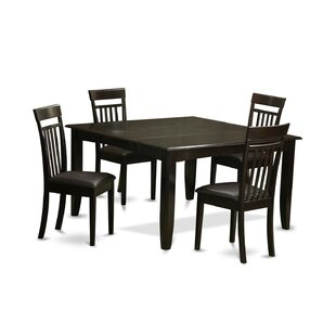 Pilning 5 Piece Wood Dinning Set August Grove