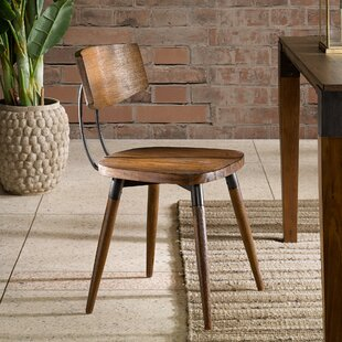 Deskins Solid Wood Dining Chair (Set of 2) Williston Forge