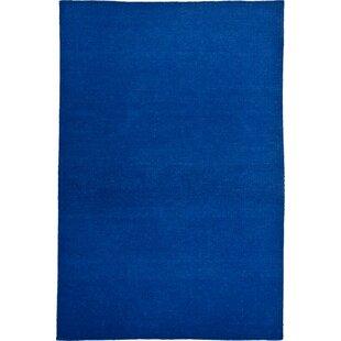 Beebe Handmade Kilim Wool Blue Rug by Metro Lane