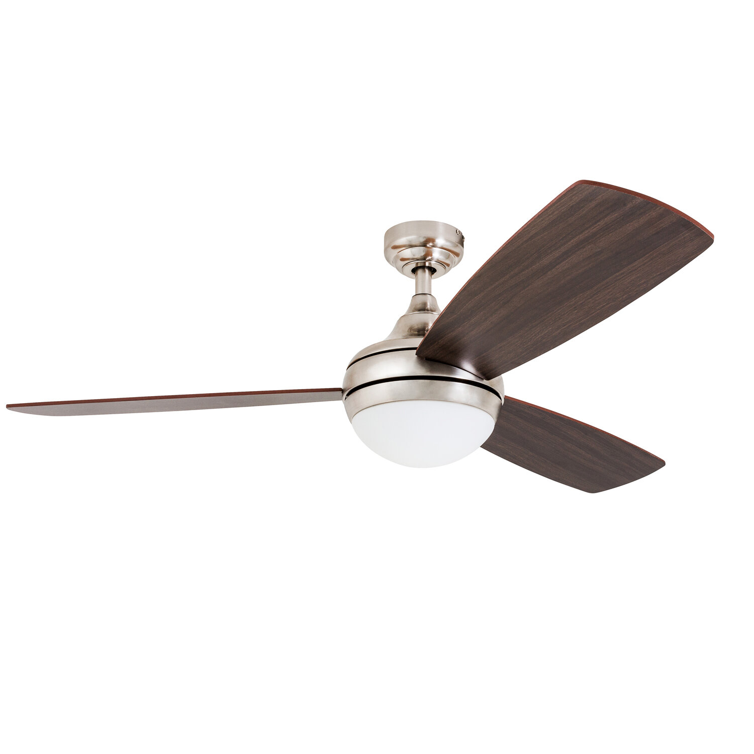 "wrought studio 52"" alexa 3 blade led ceiling fan with remote"